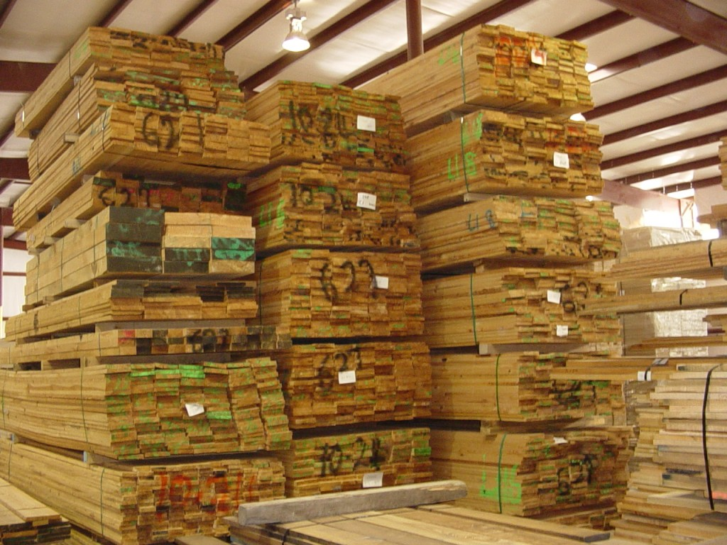 Stacked Lumber at Roys Wood Products, Lugoff SC